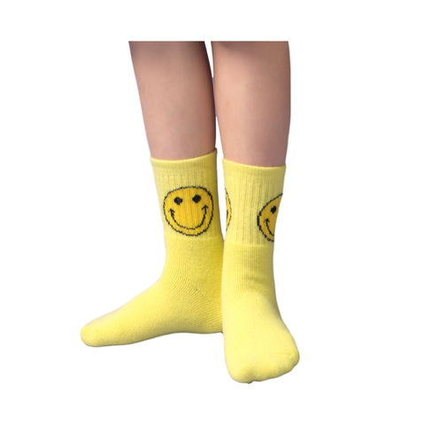 Happy Smile Crew Socks (4 Pair Set)