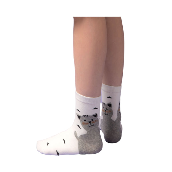 Cute Cat Socks for Women (3 Pair set)