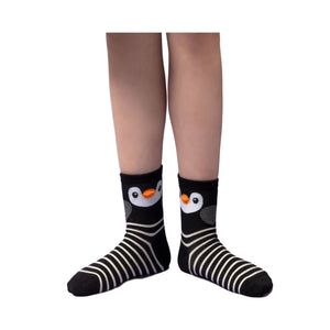 Penguin and Owl Socks with Stripe (3 Pair Set)