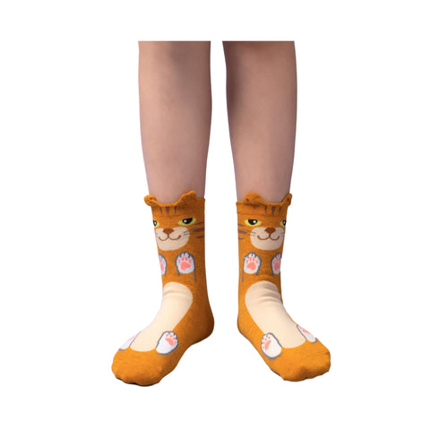 Charming Cat Socks for Women Teen Girls (4 Pair Set)