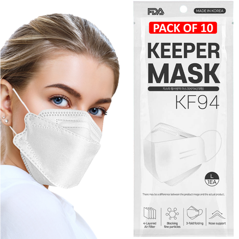 KEEPER KF94 Certified Mask (10, 20, 30, 50 Pack)