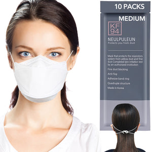 Medium [KF94 Certifed] White Disposable 4-Layer Filters Face Mask Made In Korea
