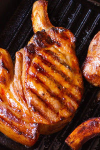 "Pork Chop - 3/4"" Bone in, French cut -16pc 10oz"