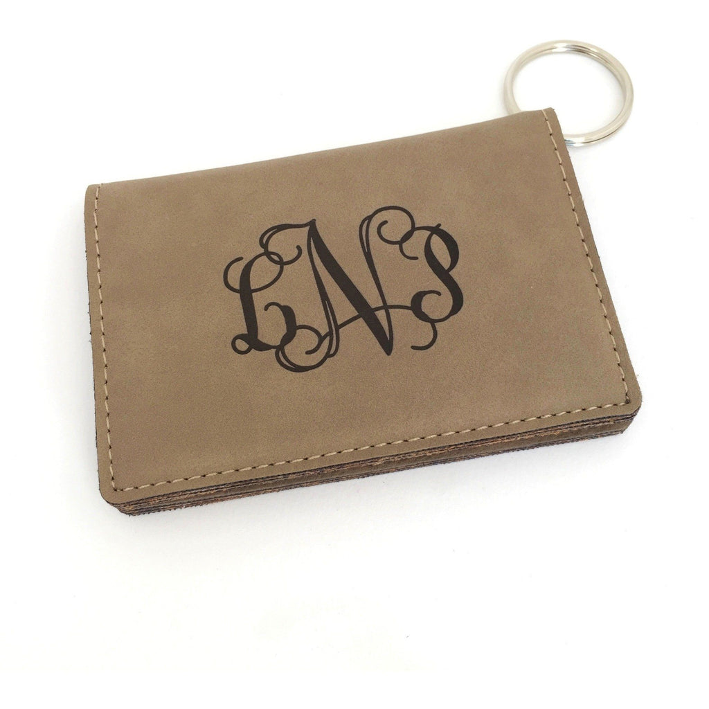 Monogram ID Card Holder Keychain