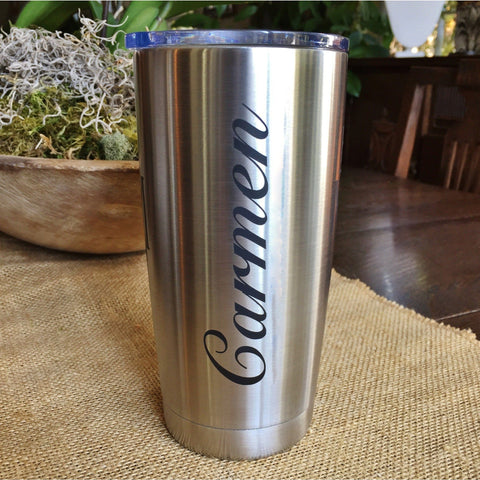 Personalized Tumbler 20oz Double Wall Insulated Stainless Steel