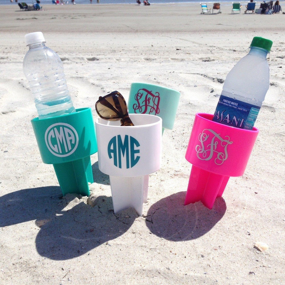 Personalized Beach Cup Holder