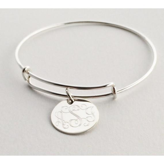 charm personalized bangles three designs birthstone s products a with bracelet bangle