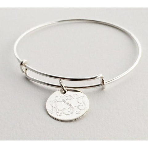 Adjustable Bangle Charm Bracelet Personalized Bracelets