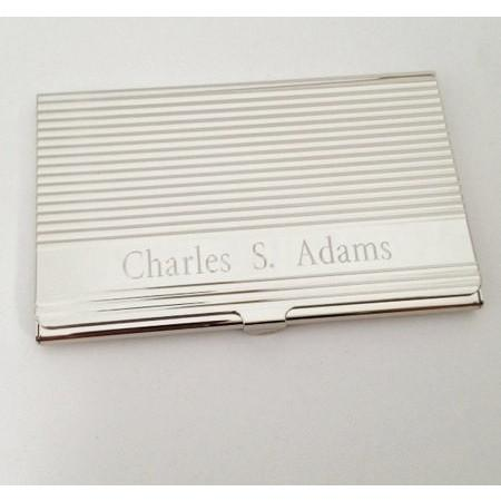 Business Card Case Lined Card Holder Personalized