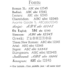 Engraved Fonts