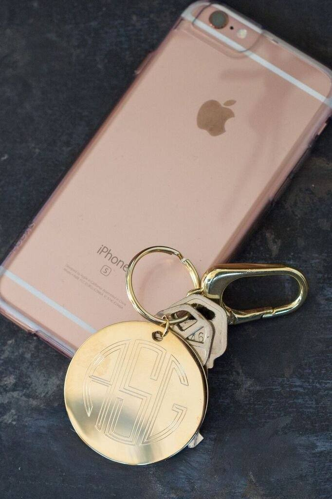 Gold Monogram Key Chain