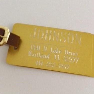 Gold Custom Luggage Tags - Set of Two