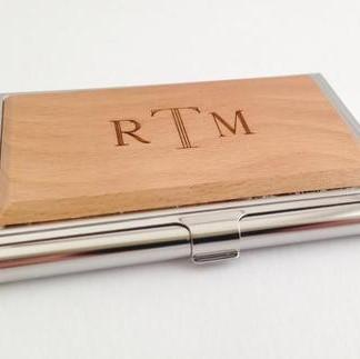 Personalized wood business card case the personal exchange personalized wood business card case colourmoves