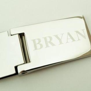 Engraved Hinged Money Clip