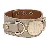 Personalized Leather Bracelet Snap Closure