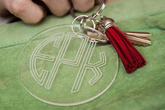 Personalized Acrylic Monogram Key Chain with Tassel