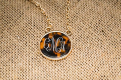 Personalized tortoise necklace