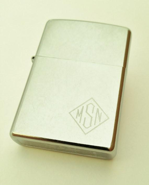 Custom Street Chrome Zippo Lighter Monogrammed