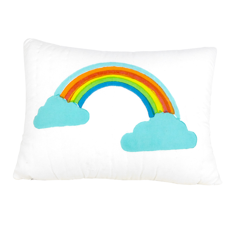 Rainbow printed cushion