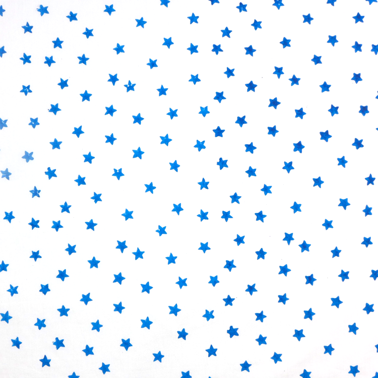 Blue star cotton fabric