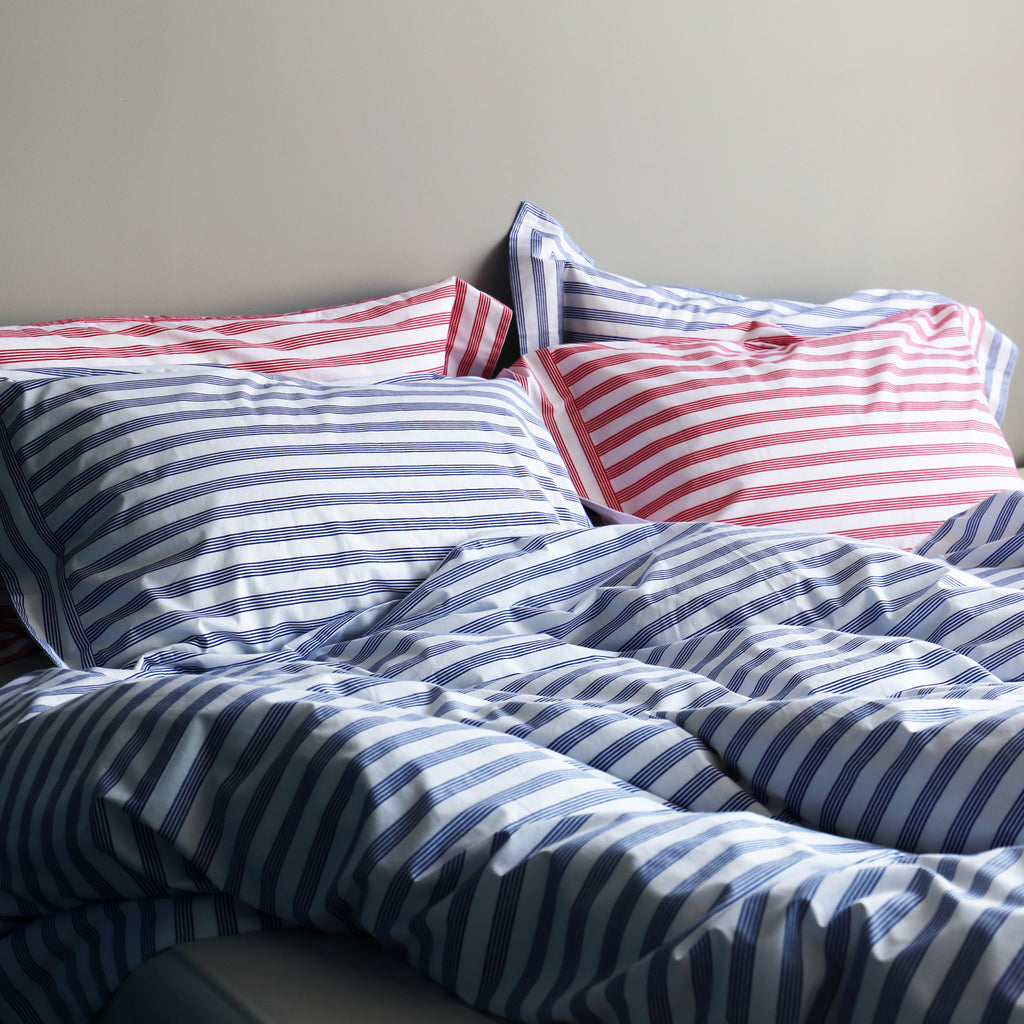 Blue Stripe Duvet Cover Lulu And Nat