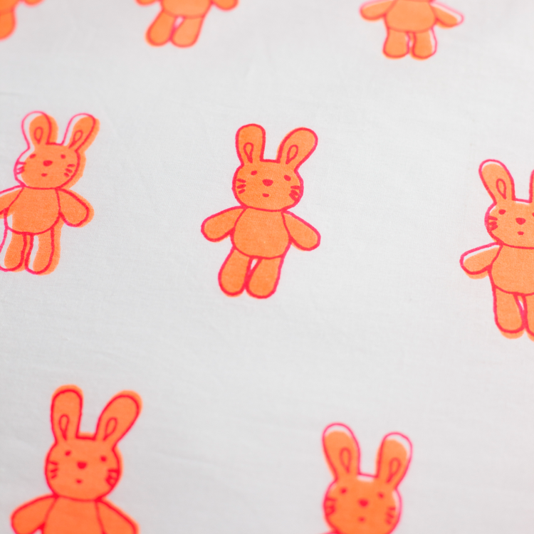 Bunny rabbit cot bed fitted sheet