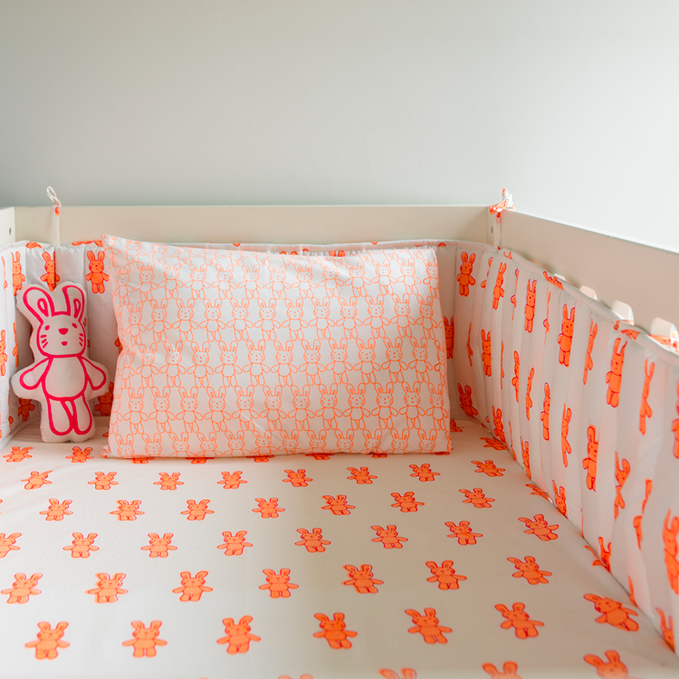 Bunny Rabbit Cot Bed Fitted Sheet And Bunny Rabbit Cot