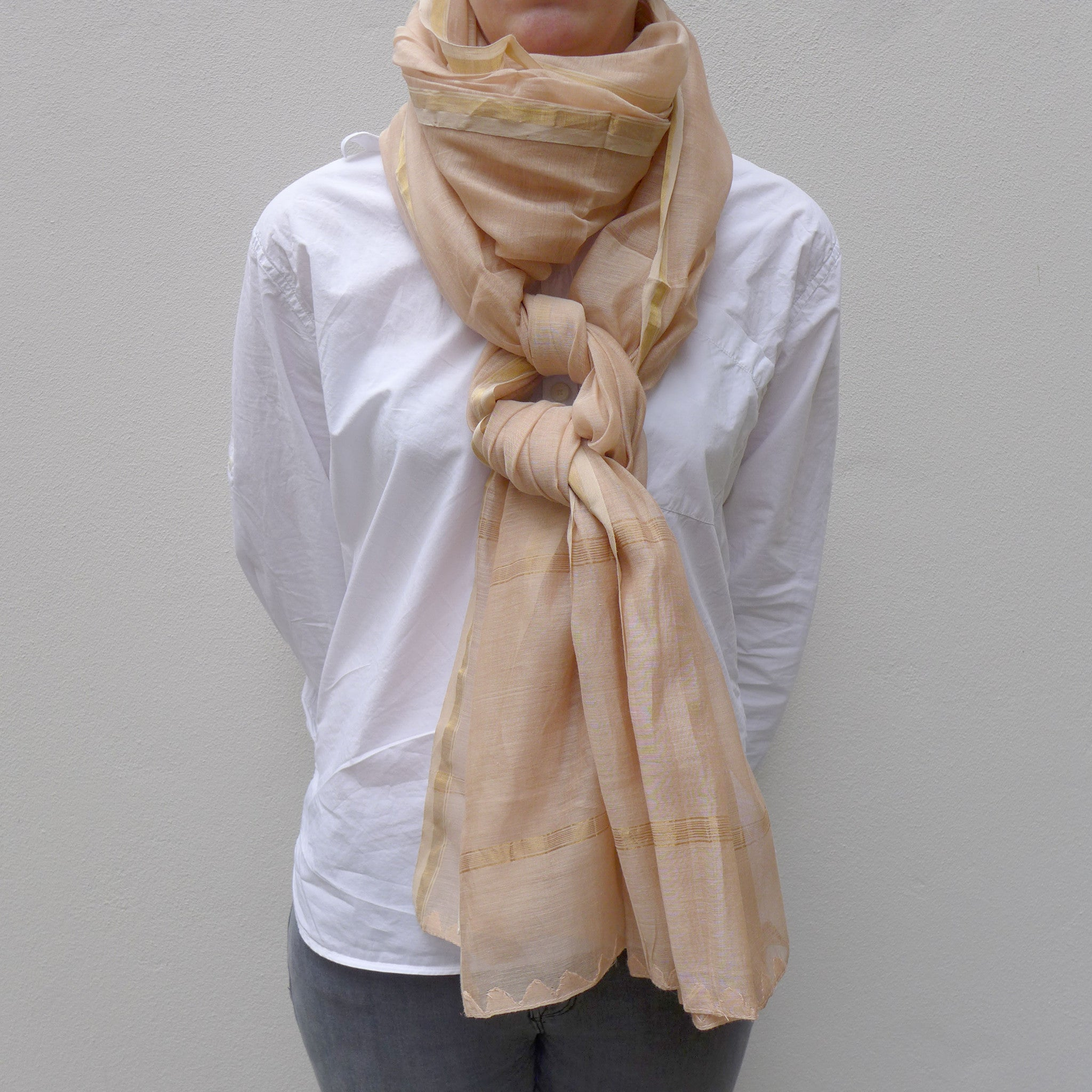 Blush pink silk shawl
