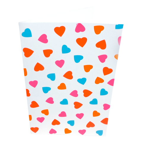 Multicolour heart card