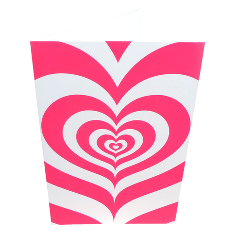 Pink hypnotic heart card