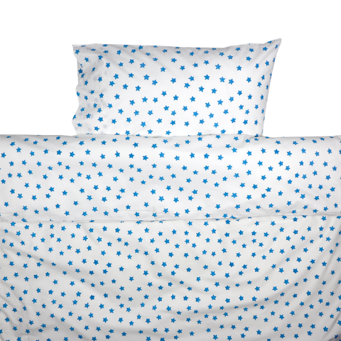 Blue star toddler cot bed duvet set