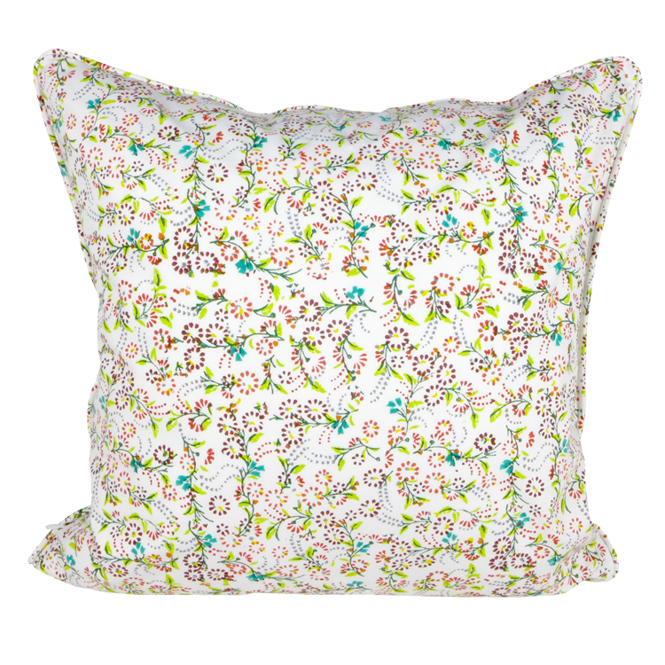 Bright mini floral cushion