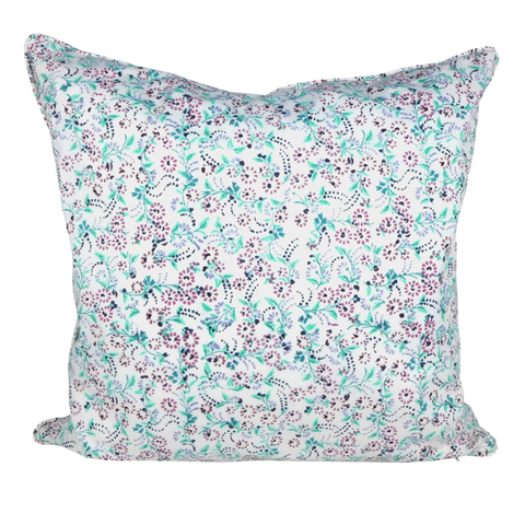 Purple mini floral cushion