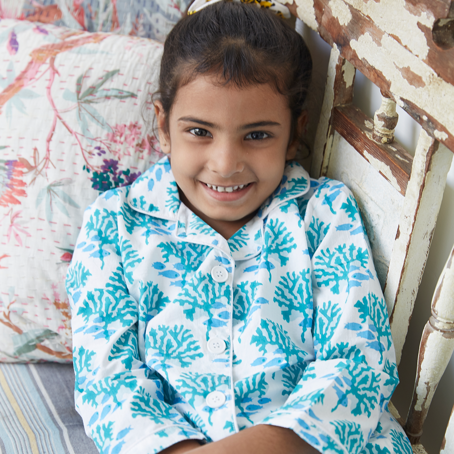 Coral & fish kids pyjamas