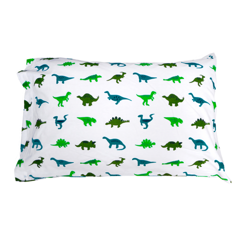 Dinosaurs single pillowcase