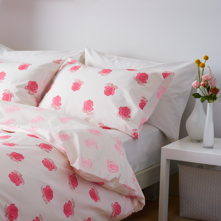 Rose single pillowcase