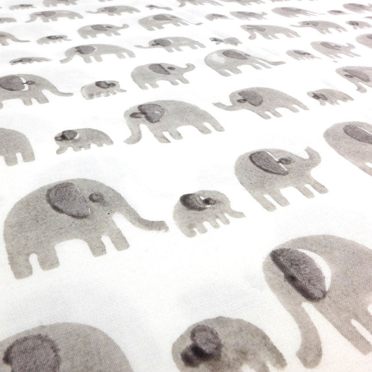 Grey elephant single duvet cover