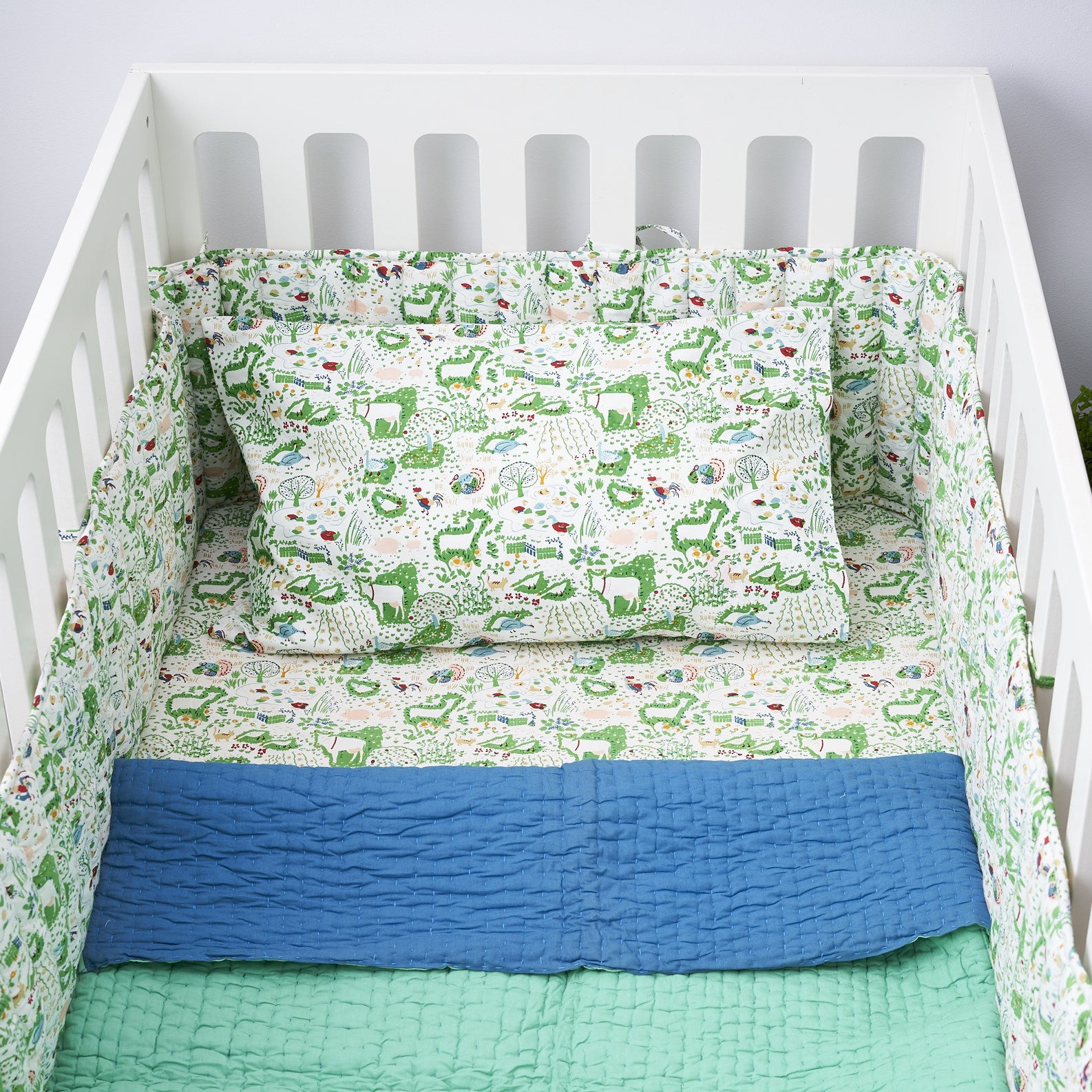 Farm yard cot bed bumper