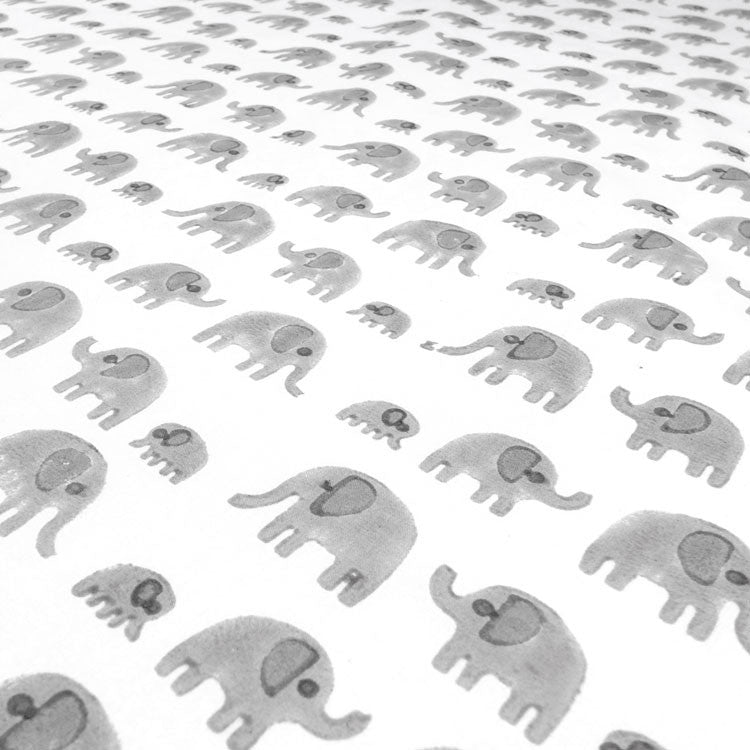 Grey Elephant Cotton Fabric And Printed Fabric From Lulu