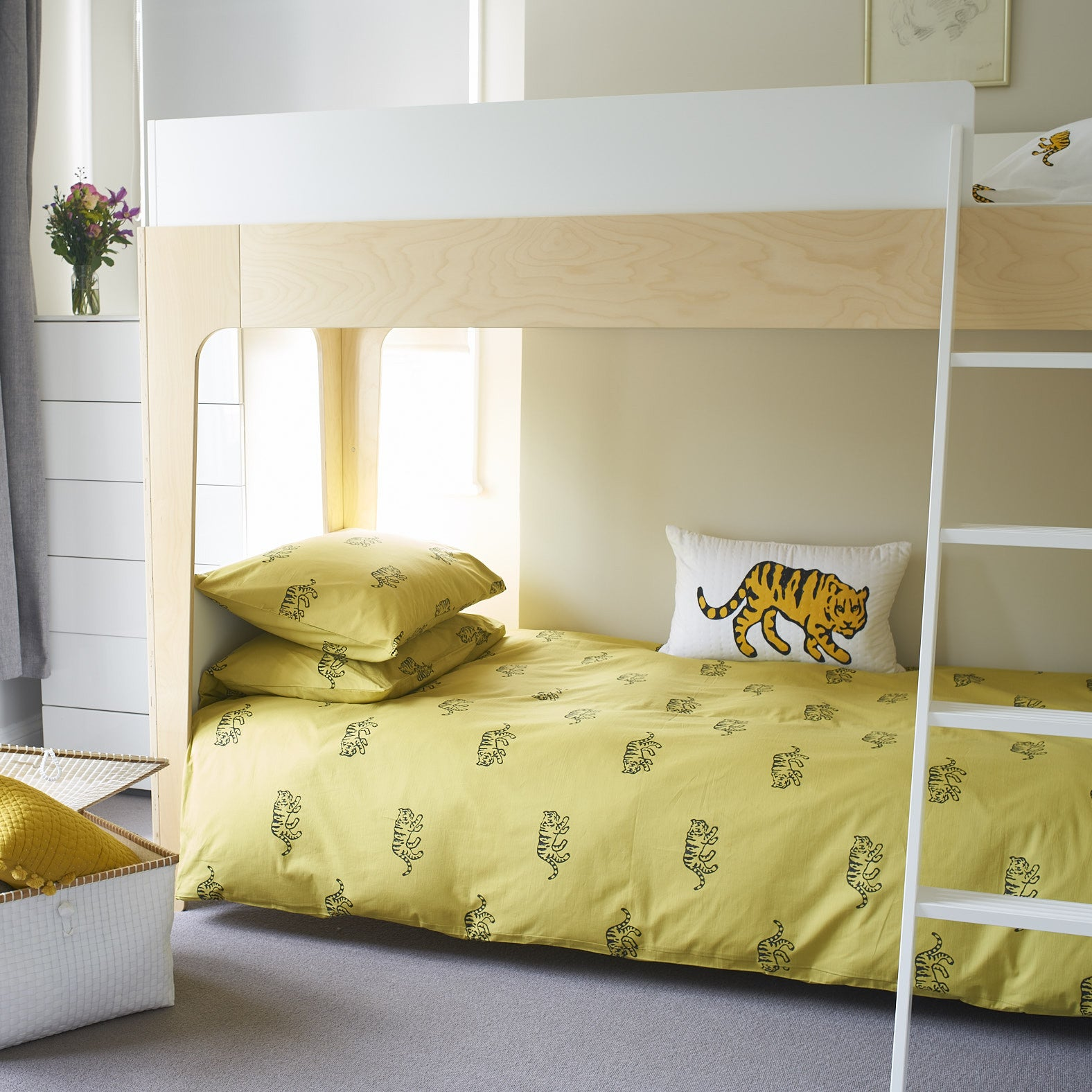 Ochre Tiger single duvet cover