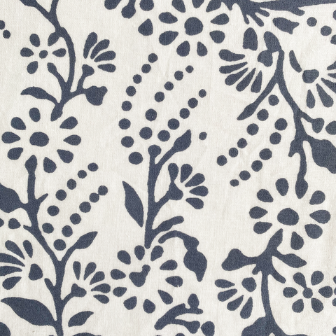 Charcoal Grey floral oilcloth