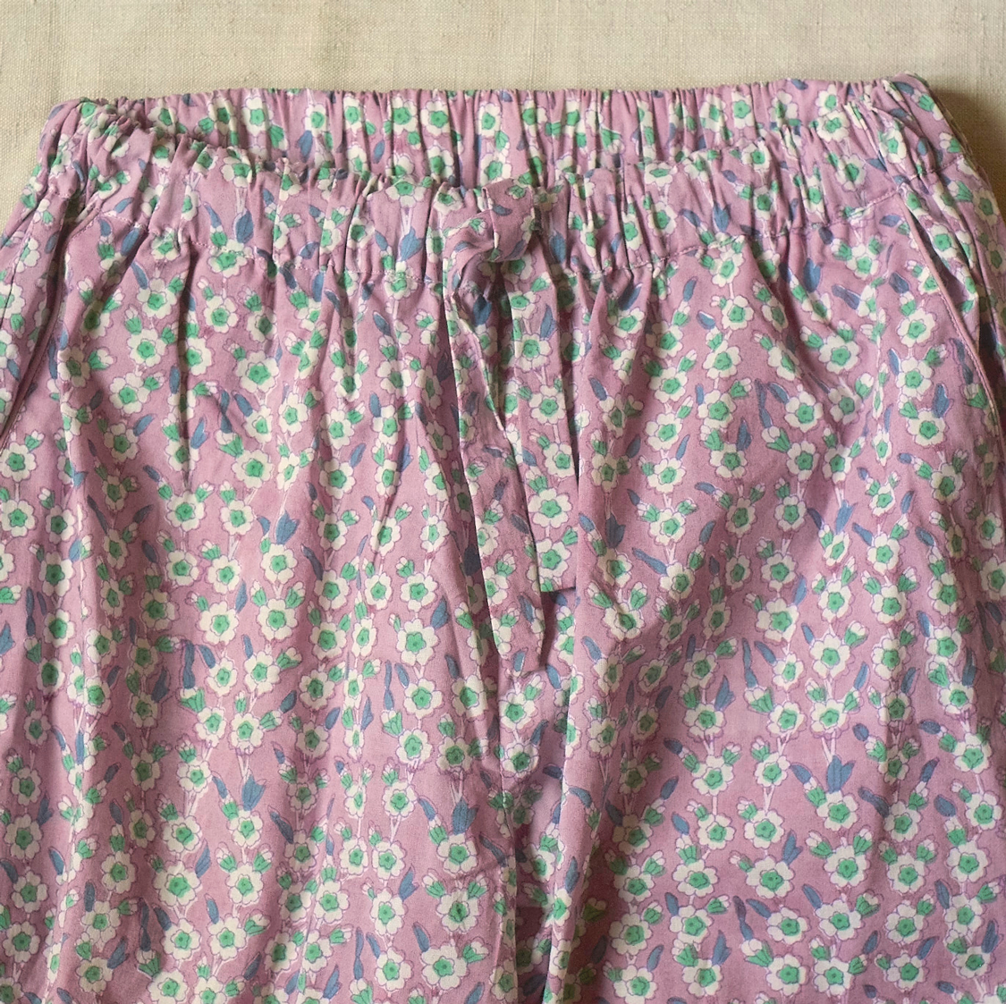 Purple floral kids pyjamas