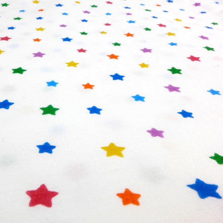 Multicolour star single duvet cover