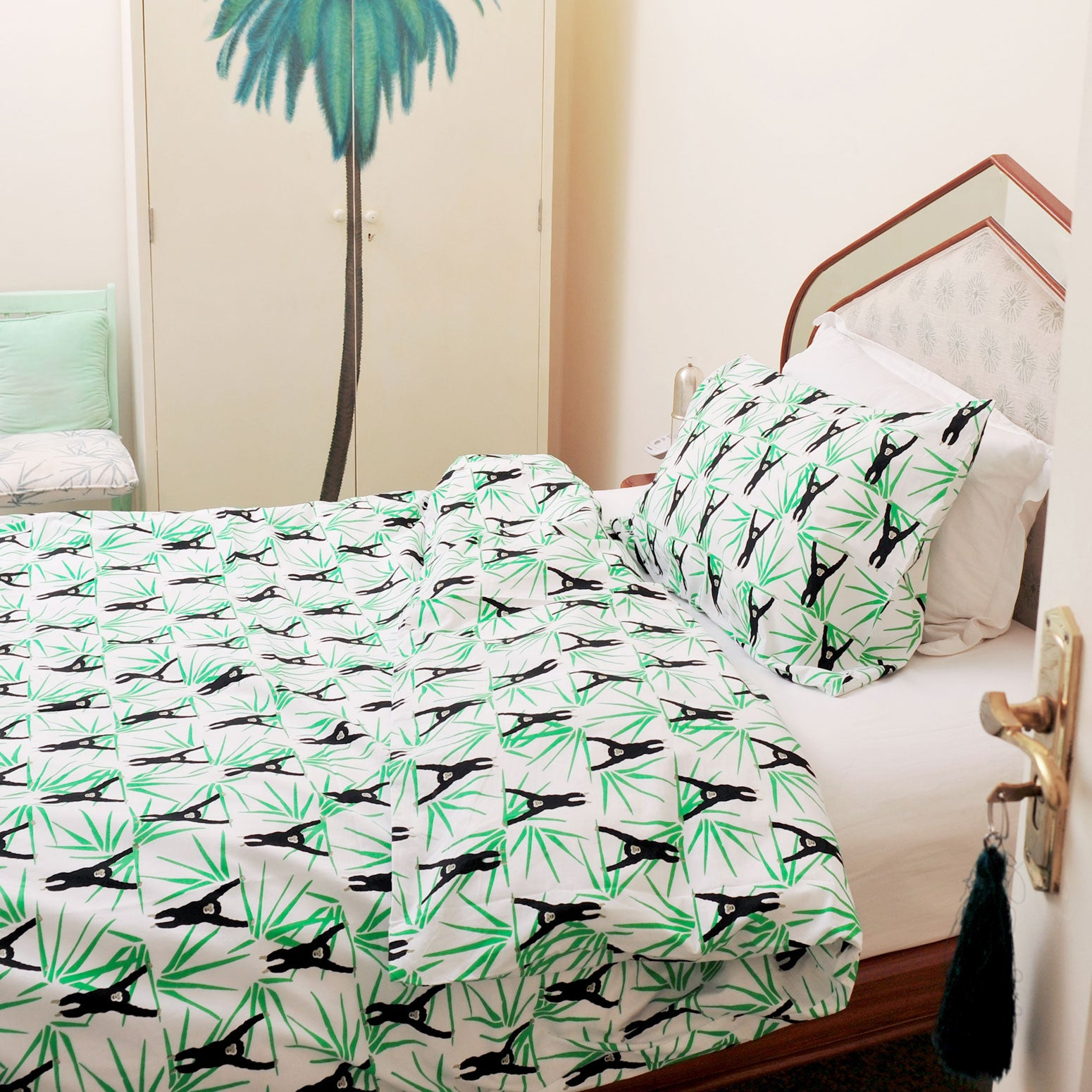 Monkey single duvet set