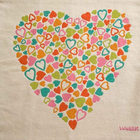Multi-colour heart wallhanging