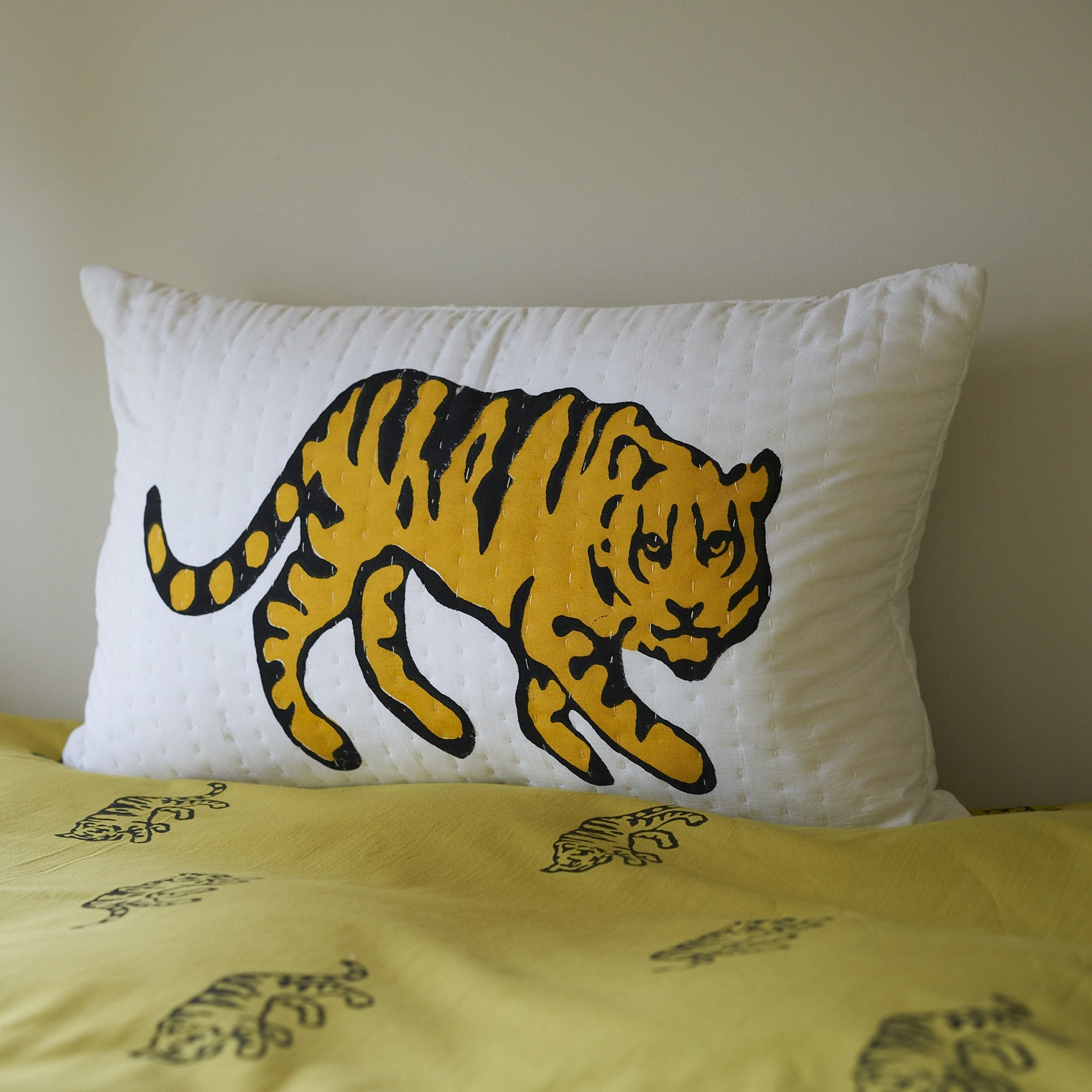 Ochre Tiger single bedding set