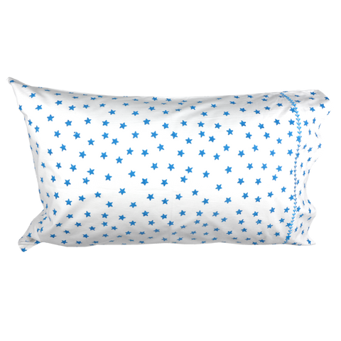 Blue star single pillowcase