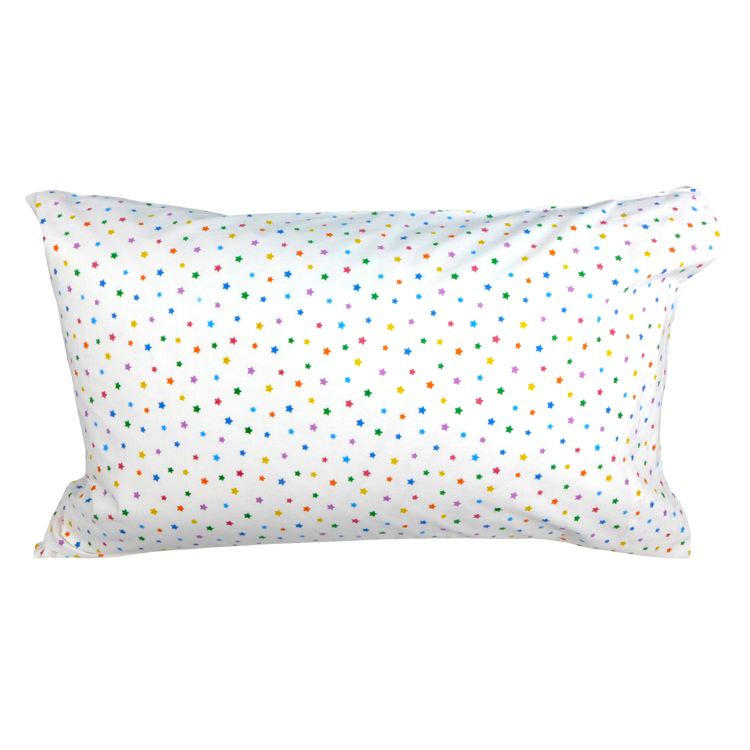 Multicolour star single pillowcase
