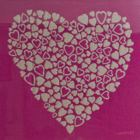 Pink multi-colour heart wallhanging