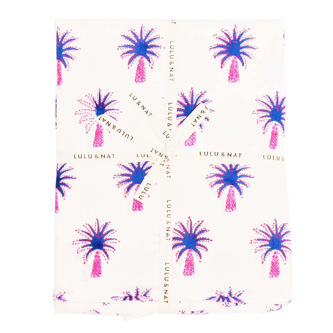 Pink palm tree table cloth
